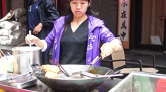 Stock Video Footage of Fried food, one of the Food China