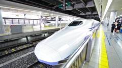 Tokyo bullet train Stock Footage