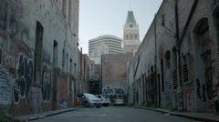 Downtown Oakland Alleyway - stock footage