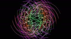fantastic video animation with moving particle stripe object, loop hd 1080p - stock footage