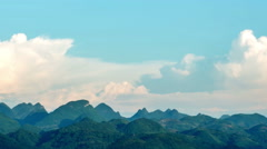 Spectacular cloudscape of mountains in Guilin,China Stock Footage