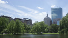 4K Time lapse Boston Public Garden zoom out Stock Footage