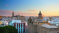 Seville skyline Stock Footage