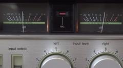 Stock Video Footage of Studio stereo audio recording display