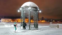 Iron arbor. Landmark. Ekaterinburg, Russia. 4K Stock Footage