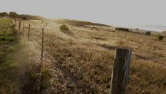 Old Fence -Sunset Stock Footage