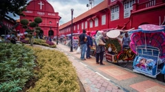 Malacca Red Square, Time Lapse Stock Footage