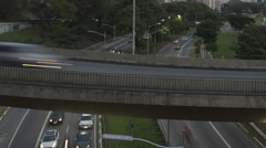 Time lapse Traffic Sao Paulo close up zoom out Stock Footage
