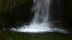 Waterfall in the rocks with , movement of camera Stock Footage
