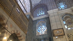 Islamic Architecture Inside The Mosque Stock Footage