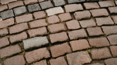 Walk on the pavement close-up Stock Footage