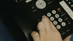 Woman dials the number in the Call Center Stock Footage