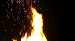 HD 1080,Burst of flames Stock Footage