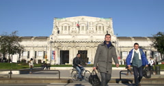Central Station, Milano. Shot in all his length. 4k footage Stock Footage