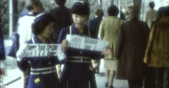 Kengon 70s 16mm Two Japanese Hostess Stock Footage