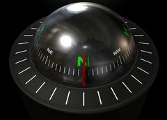 liquid floating compass - stock illustration