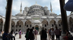 Blue Mosque (Sultan Ahmet) in Istanbul Stock Footage