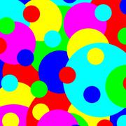 Multicolored various size spots abstract illustration. Stock Illustration