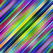 Multicolored diagonal graduated stripes pattern background. Stock Illustration