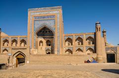 Beautiful palace in old town of khiva, uzbekistan Stock Photos
