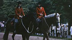 London 1965: horse parade at Trooping the colour Stock Footage