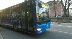 Bus - Winter street scenes Fridhemsplan,  Stockholm Stock Footage
