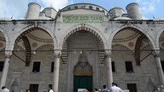 Entrance of Yavuz Mosque Stock Footage