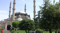 Selimiye Mosque in Edirne City Stock Footage