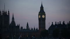 Big Ben in the evening - stock footage