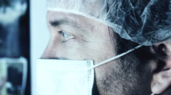Quarantine medical health care worker doctor mask - stock footage
