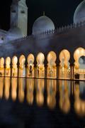 Sheikh Zayed Grand Mosque Abu Dhabi UAE Stock Photos