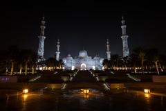Sheikh Zayed Grand Mosque Abu Dhabi UAE - stock photo
