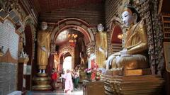 Buddha Statue Thandboddhay Paya Stock Footage