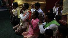 Morning Prayer Thandboddhay Paya Stock Footage