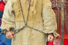 Handcuff prisoner Stock Photos