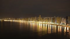Time-lapse of the city of Benidorm at dawn Stock Footage