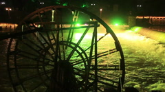 Fenghuang City Watermill - stock footage