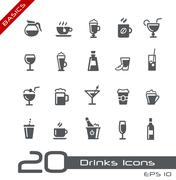 Drinks Icons -- Basics - stock illustration