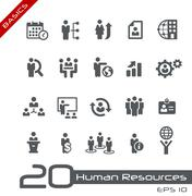 Human Resources and Business Management -- Basics - stock illustration