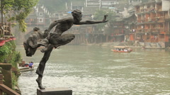 Fenghuang City Stock Footage