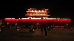 City Gate Changsha City Stock Footage