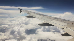 Aircraft Window Clouds Stock Footage