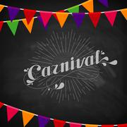 vector typographical illustration of ornate chalk word carnival on the - stock illustration