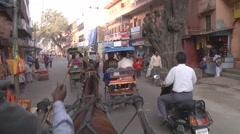 Riding to the Samrat Hotel at Haridwar in Uttarakhand, India Stock Footage