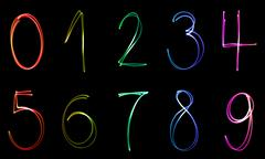 Illuminated numbers Stock Illustration
