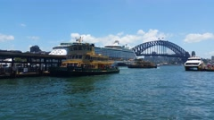 SYDNEY HARBOUR FERRY, AUSTRALIA Stock Footage
