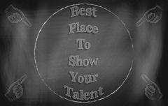 best place to show your talent - stock illustration