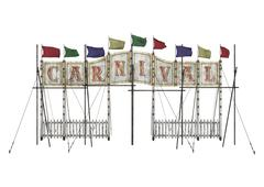 carnival entrance - stock illustration