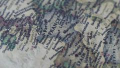 Old World Map Stock Footage