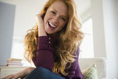 Stock Photo of Portrait of attractive young woman